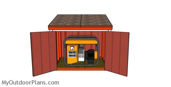 Easy Wood Portable Generator Enclosure : Portable generator enclosure plans myoutdoorplans free
