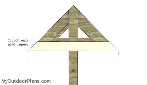 Horizontal rafters