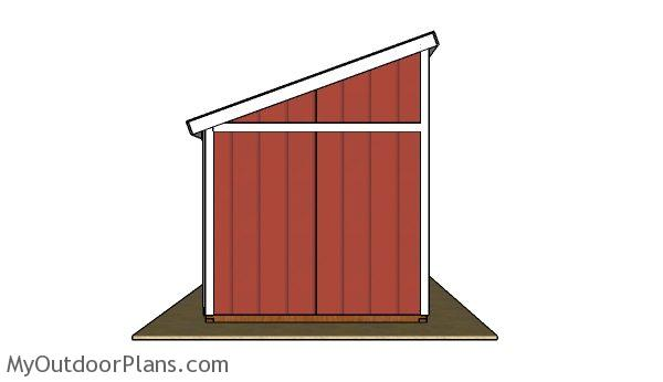 Horse shed plans - Side view