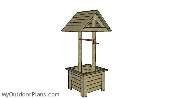 Do It Yourself Home Design: Wooden Wishing Well Plans