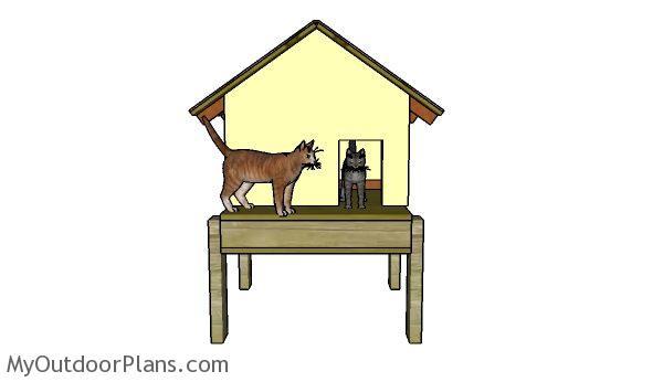 Cat House Roof Plans Myoutdoorplans Free Woodworking