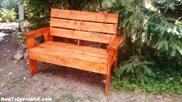DIY 2x4 Outdoor Bench