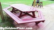 DIY Large Picnic Table