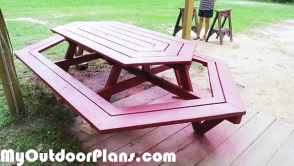 DIY Large Picnic Table