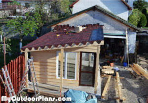 Laying-the-roofing