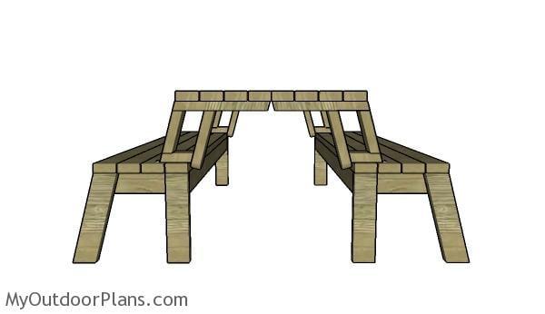 Folding Picnic Table Plans Myoutdoorplans Free