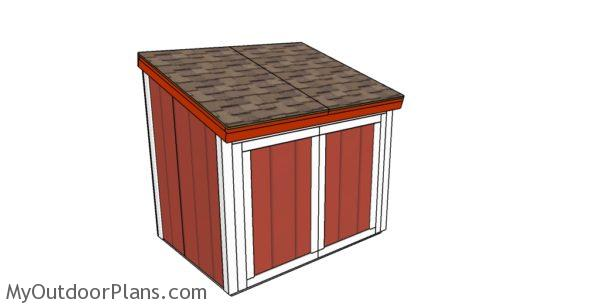 Simple Portable Generator Shelter : Large generator shed roof plans myoutdoorplans free