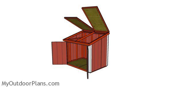 Easy Wood Portable Generator Enclosure : Large generator shed roof plans myoutdoorplans free