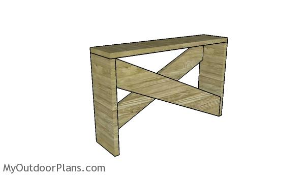 Rustic Entryway Table Plans