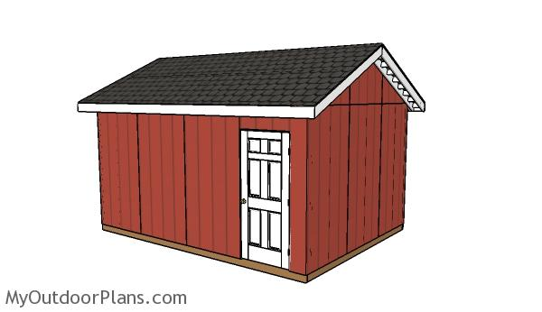 12x16 atv shed roof plans myoutdoorplans free for Atv shed plans