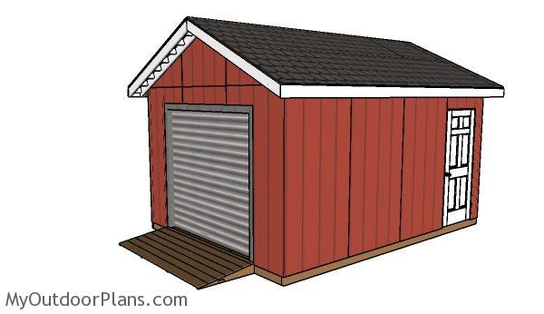 Atv Shed Plans Myoutdoorplans Free Woodworking Plans And Projects Diy Shed