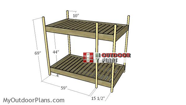 Assembling-the-bunk-bed