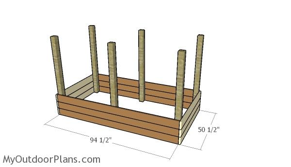 assembling-the-raised-garden-bed