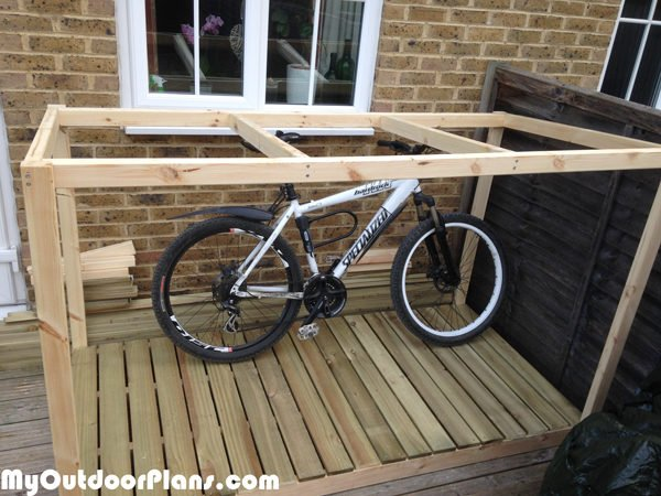 Diy Bike Shed Myoutdoorplans Free Woodworking Plans