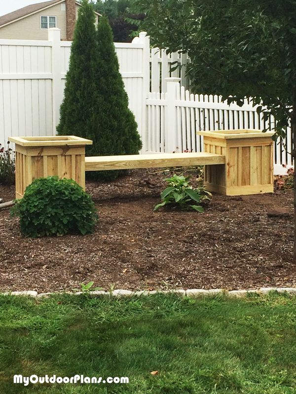 Board and Batten Planter Bench