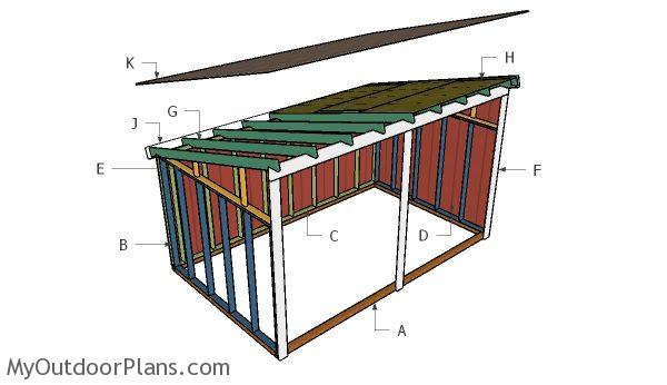 Run in shed roof plans myoutdoorplans free woodworking for Build a cupola free plans