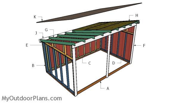 run in shed roof plans myoutdoorplans free woodworking plans and