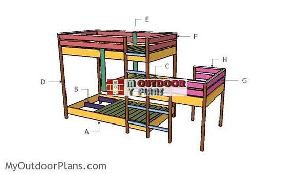 Building-a-triple-bunk-bed