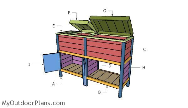 Double Wood Cooler Part 2 Myoutdoorplans Free Woodworking Plans And Projects Diy Shed