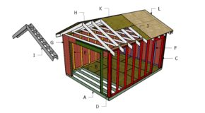 12×16 ATV Shed Roof Plans