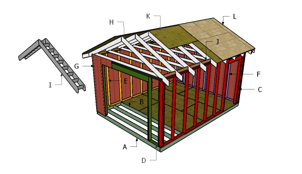 12x16 ATV Shed Roof Plans