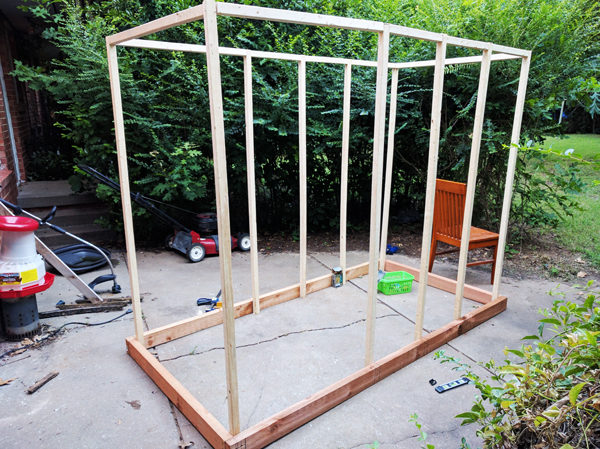 Building-the-frame-of-the-coop