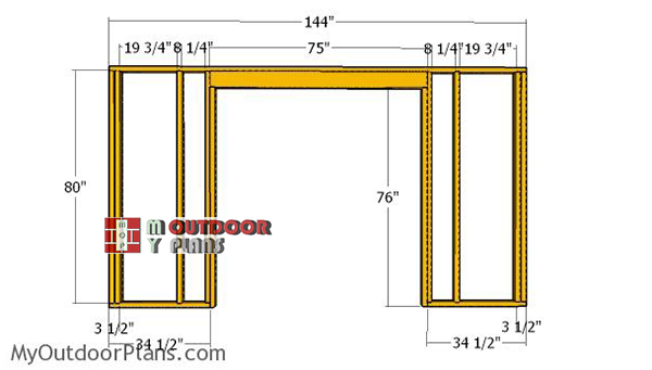 Building-the-front-wall-frame