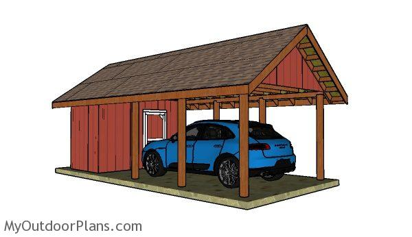 Carport with storage plans myoutdoorplans free for Carport designs with storage