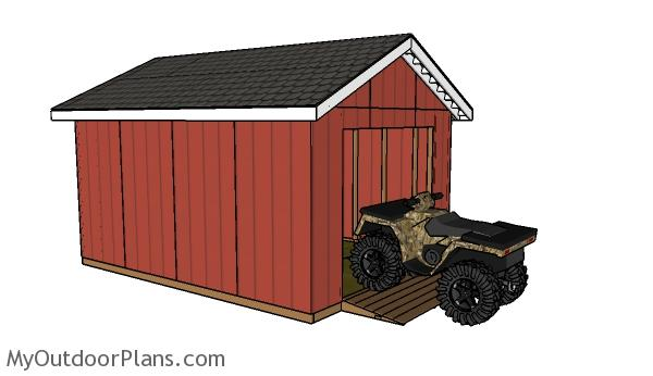 12x16 Atv Shed Roof Plans Myoutdoorplans Free