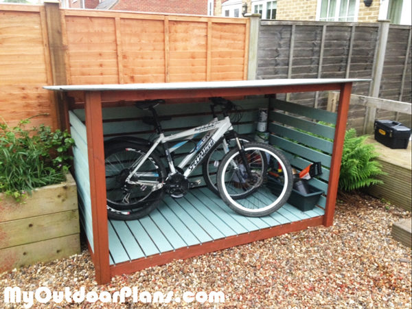 outdoor bike storage diy bike shed myoutdoorplans free woodworking plans 13054