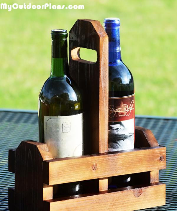 DIY Double Wine Caddy