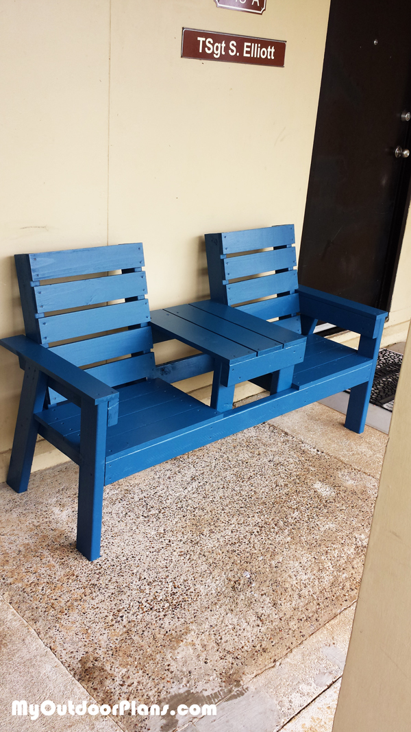 DIY Outdoor Bench with Table