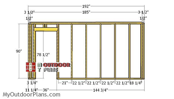 Side-wall-with-door-frame-plans
