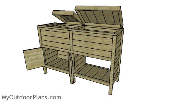 Double Wood Cooler Plans