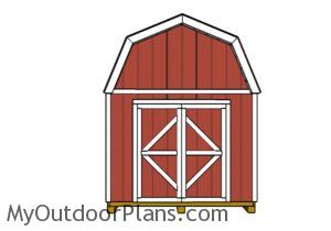 10x10-barn-shed-plans-front-view