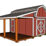 Barn Shed with Porch Plans