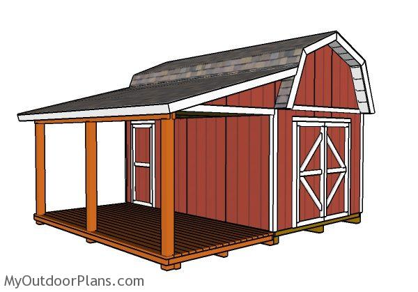 Barn Shed With Porch Plans Myoutdoorplans Free