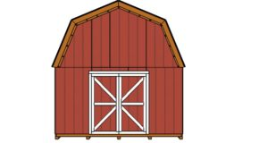 Barn Shed Double Doors Plans