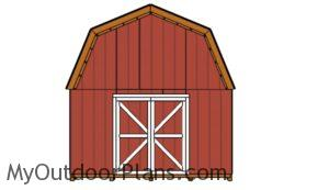 14x16-shed-plans-front-view