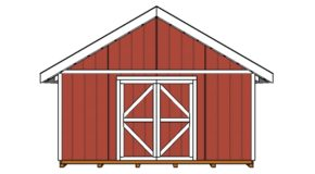 Shed Double Doors Plans