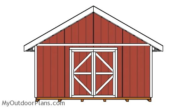 16x16-shed-plans-front-view
