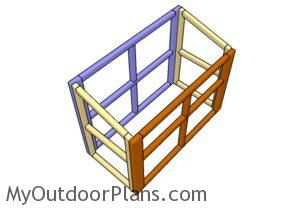 assembling-the-rabbit-hutch-frame