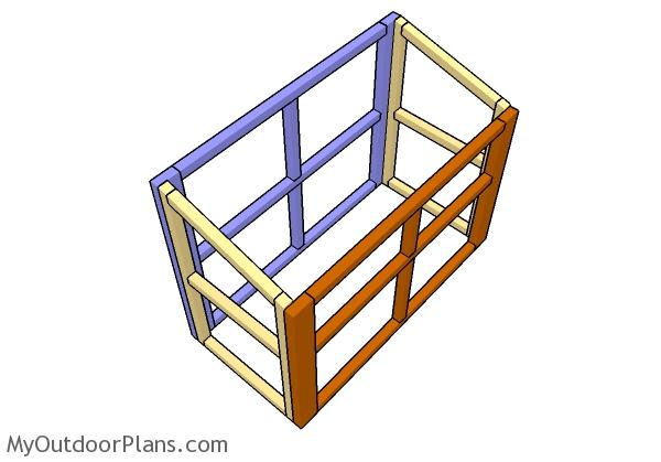 assembling-the-rabbit-hutch-frame
