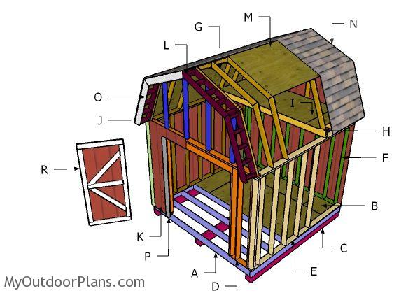 10x10 Gambrel Shed Roof Plans Myoutdoorplans Free