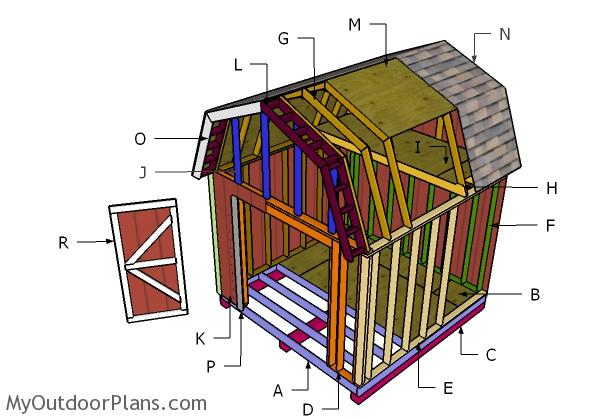10x10 Barn Shed Plans Myoutdoorplans Free Woodworking Plans And Projects Diy Shed Wooden Playhouse Pergola Bbq