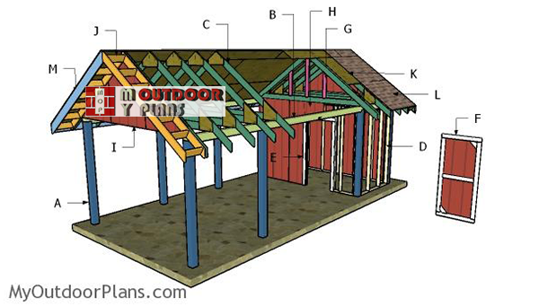 Building-a-carport-with-gable-roof