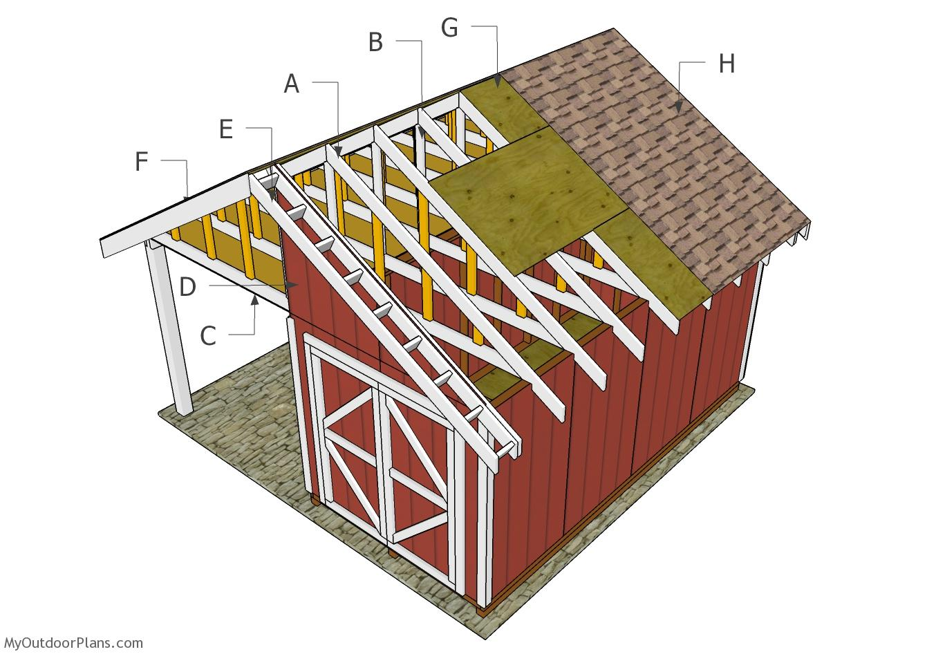 Shed with Porch Roof Plans