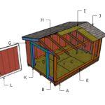 8×12 Short Shed Roof Plans