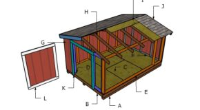 8×12 Short Shed Roof Plans
