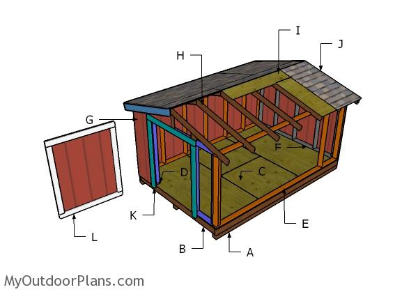 8x12 Short Shed Roof Plans